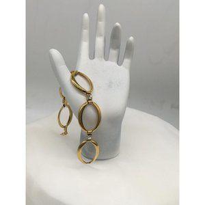 Avon Bracelet Gold plated Clear Rhinestones 7 inch